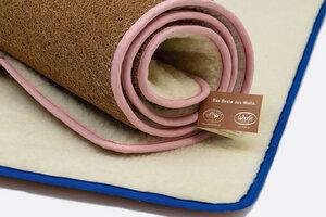 100% natürliche Yogamatte aus Kokos und Schafwolle in verschiedenen Farb-Einfassungen - Villgrater Natur