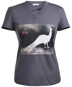Damen T-Shirt grau mit Künstlerdruck - Endlich