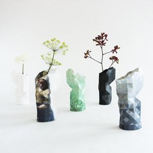 Paper Vase Cover - Dutch Design Papiervase - 14 Varianten - Pepe Heykoop
