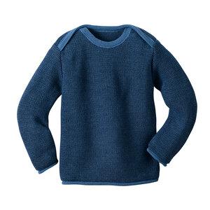 Melange-Pullover in blau - Disana