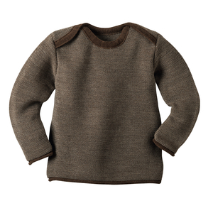 Melange-Pullover in haselnuß - Disana