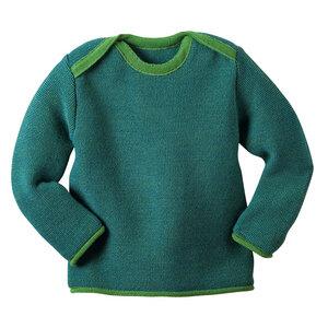 Melange-Pullover in grün - Disana