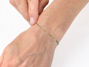 Morse-Code Armband vergoldet - renna deluxe