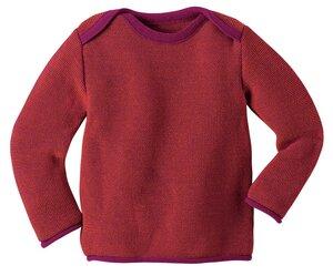 Melange-Pullover in beere - Disana