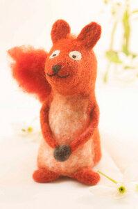 Eichhörnchen als Filz Eierwärmer  - short'n'pietz