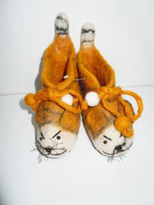 Filz Tigerschuhe  für Baby ´s oder Kleinkinder  - short'n'pietz
