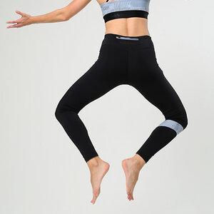 Avacoo Damen Leggings Kurz mit Handytasche Schwarz Tights High Waist Yogahose