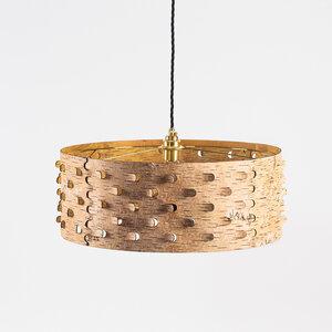 Pendelleuchte Esstisch-Lampe / Hängelampe aus Birkenrinde Ø50cm - MOYA Birch Bark