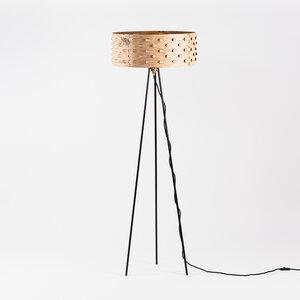 Stehlampe für Wohnzimmer / Dreibein Stehleuchte aus Birkenrinde Ø50cm - MOYA Birch Bark