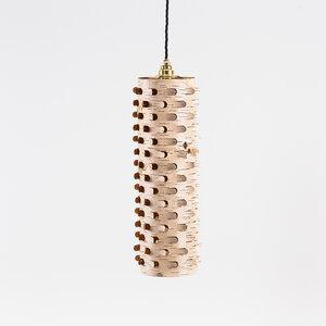 Hängelampe Esstisch-Leuchte / Pendelleuchte aus Birkenrinde Ø15cm - MOYA Birch Bark
