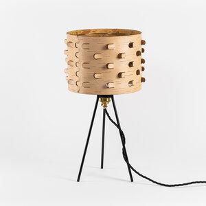 Nachttischlampe / Dreibein /Schreibtischlampe aus Birkenrinde Ø25cm - MOYA Birch Bark