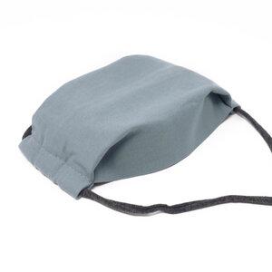 Gesichtsmaske Blaugrau - aus nachhaltiger Baumwolle - anna dezet