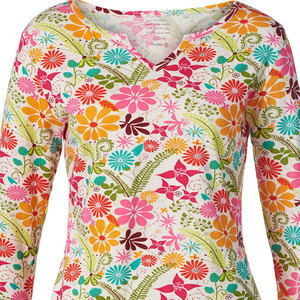 Bedrucktes Damen T-Shirt aus Bio-Baumwolle 3/4 Arm 'Vicky' - Himalaya