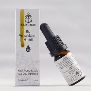 Elbgras Bio CBD-Öl 5% - Vollspektrum - Deutsches Bio-Produkt - Elbgras