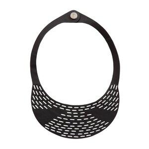 Coding vegane Halskette aus recyceltem Kautschuk - Paguro Upcycle