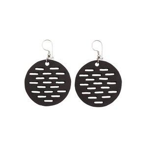 Coding handgefertigte Ohrringe aus recyceltem Reifenschlauch - Paguro Upcycle