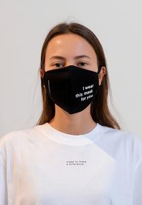 REDAAV 2.0 TC FOR YOU Unisex Behelfs-Mund-Nasen-Maske aus Bio-Baumwoll-Mix - ARMEDANGELS