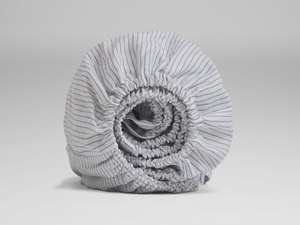 Spannbettlaken Bio-Baumwolle Tencel gestreift - Yumeko