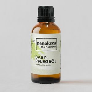 Babypflegeöl mit Bio-Mandelöl: bio, vegan, tierversuchsfrei - panakeea