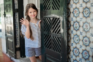 Leinen Shorts Caprice in Blau - Peter Jo Kids