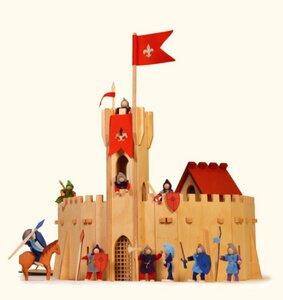 Große Ritterburg 65tlg. Stecksystem toll zum Spielen und Bauen (hier leer ohne Zubehör ) - Decor Holzspielwaren
