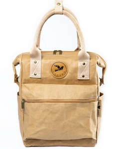 Rucksack aus Papier 2 in 1 Handtasche veganes Leder robust wasserfest - PAPERO