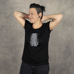 "T-Shirt ""Be brave. Be diverse"". Damen, schwarz - WEARETHEFUCKINGLEADERS"