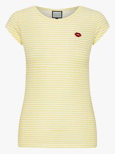 Casual Elegance T-Shirt – Streifen gelb/weiß - Mademoiselle YéYé
