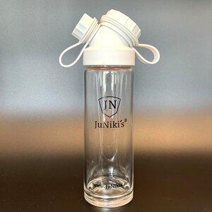 JuNiki´s® Trinkflasche aus Glas - handmade - praktische Weithals-Glasflasche mit Trinköffnung - in 8 Farben - JN JuNiki's