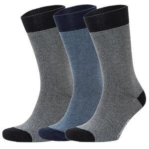 3er Set Herringbone Pattern Socks - Opi & Max