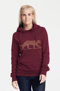 Bio-Damen-Kapuzensweater Leopard - Peaces.bio - Neutral® - handbedruckt