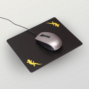 """Salamandra"" Mousepad aus Recyclingleder  - HANDGEDRUCKT"