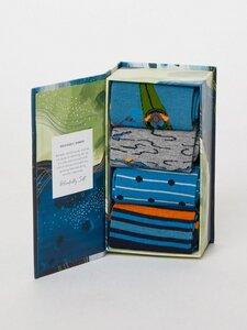 Acquatico 4er Bambus Socken Geschenk Box - Thought