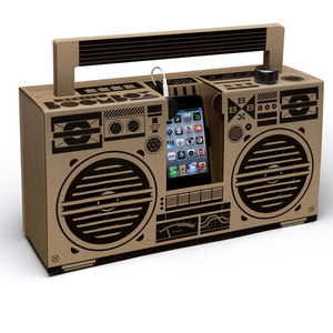 Ghettoblaster aus Pappe - Berlin Boombox in brown - Berlin Boombox