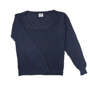 Recycelter Pullover für Frauen aus Denim-Baumwolle Grazia - Rifò - Circular Fashion
