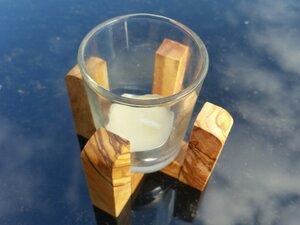 Windlicht FRÜHLING inkl. Teelicht - Olivenholz erleben