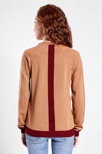 Pullover mit Kontraststreifen hinten | 100% extrafeine Merinowolle  - t7berlin