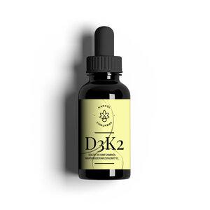 VITALHemp Vitamin D3 + K2 Tropfen gelöst in Bio Hanf Öl (15ml) - VITALHemp OG