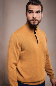 Edler Pullover mit Rollkragen aus 100% Alpakawolle - SETH - KUNA