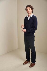 Pullover mit V-Ausschnitt aus 100% Alpakawolle - ALAN - KUNA
