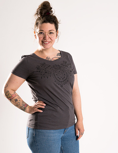 Mandala Fuchs - Frauenshirt - Róka - fair clothing