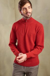 Edler Pullover mit Strickbund aus 100% Alpakawolle - TIMMY - KUNA