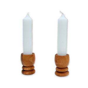 2er Set Kerzenhalter PICCOLO Olivenholz - Olivenholz erleben