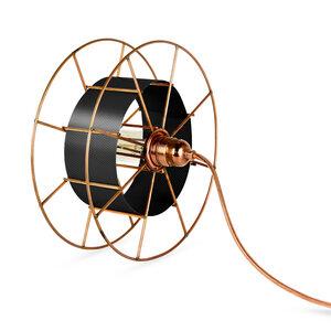 Stehleuchte Spool upcycling Basic kupfer - Tolhuijs Design