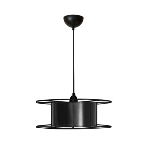 Hängeleuchte Spool upcycling Basic schwarz - Tolhuijs Design