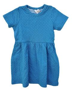 Sommerkleid mit Kurzarm Leela Cotton blau saphir  rot Jersey 100% Baumwolle ( bio) - Leela Cotton