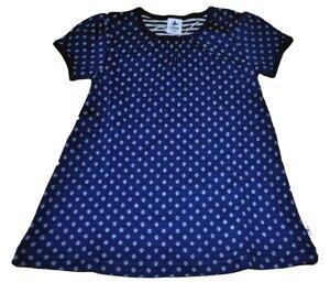 Sommerkleid mit Kurzarm Leela Cotton blau Zypern 100% Baumwolle ( bio) - Leela Cotton