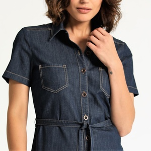 Shirtdress KAYSA Hemdblusenkleid aus LIGHT DENIM in classic blue - Feuervogl