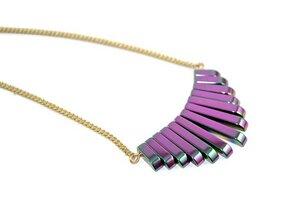 Hematit Collier Halskette in Regenbogenfarben - Crystal and Sage