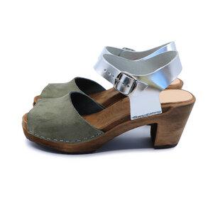 CLEO - Holz Clogs - high mid heel - me&myClogs